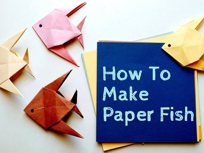 How To Make a Paper Fish Step by Step? (Type-2) | Origami Fish | Easy Creative Crafts
