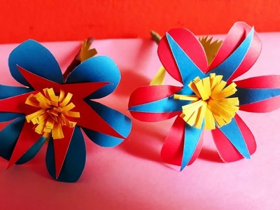 HOW TO MAKE A PAPER FLOWER || BY BD CRAFTS ||  DIY PAPER  CRAFT