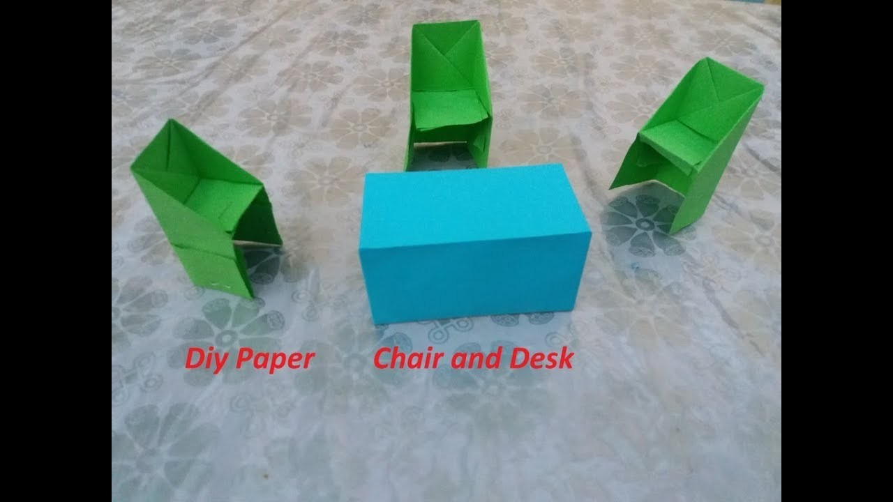 How to Make Diy Paper Table & Chair | Diy paper Table & Chair | Step by Step Tutorial