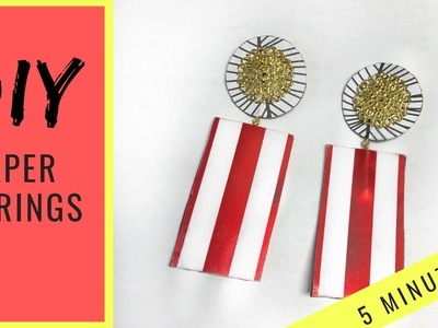 HOW TO MAKE EARRINGS | PAPER EARRINGS | HANDMADE JEWELRY |  DIY | 5 MINUTE CRAFT | MISS TREECE