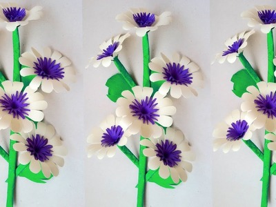 Flower Simple And Beautiful Heart Wall Hanging Diy Paper Flower