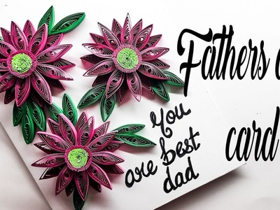 How to make fathers day card at home | card making ideas | quilling designs