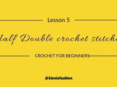 How to Make Half Double Crochet Stitches