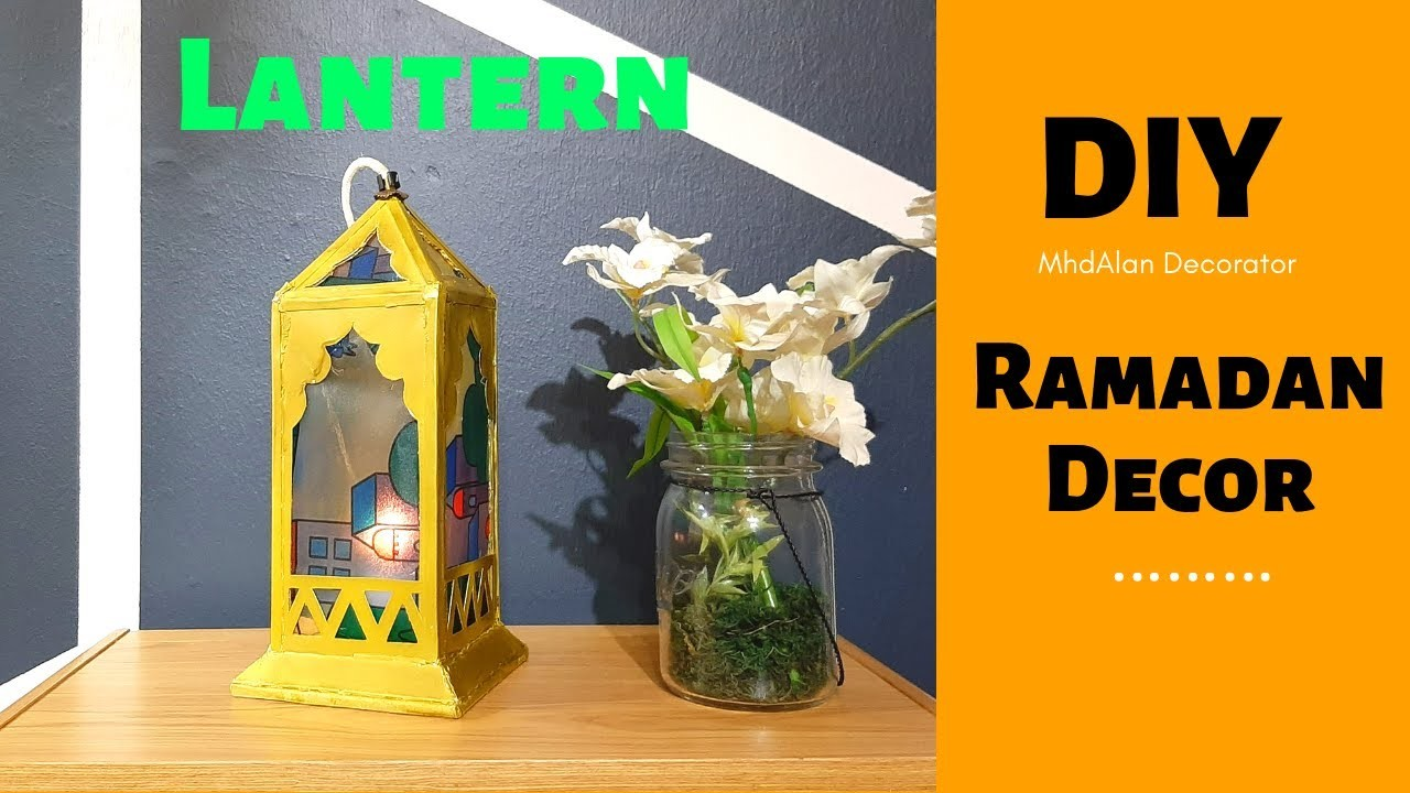 How to make Moroccan Lantern with Cardboard | DIY