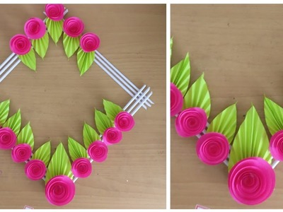 How To Make Paper Flower Wall Hanging | DIY | DIY Wall Hanging | Paper Craft | Wall Decor
