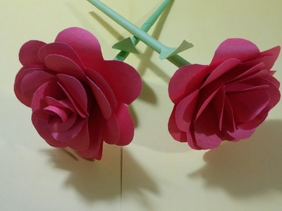How to make Rose Flower with Paper Flowers Craft Idea very easy DIY ideas