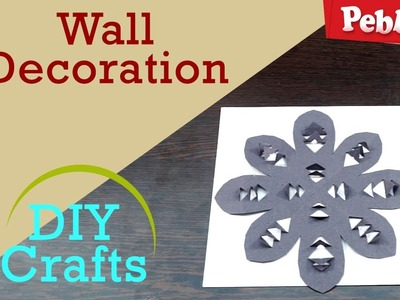 How to make wall decoration with Craft Paper | DIY Crafts for kids | in English