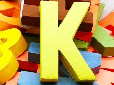 3d Letter Diy.Paper Origami Alphabet Letters K Making By Paper 3d