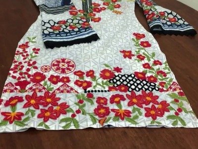 Sleeve of Kameez Stitching on MINA HASAN Suits | How to Stitch Sleev of Shirt or Kameez