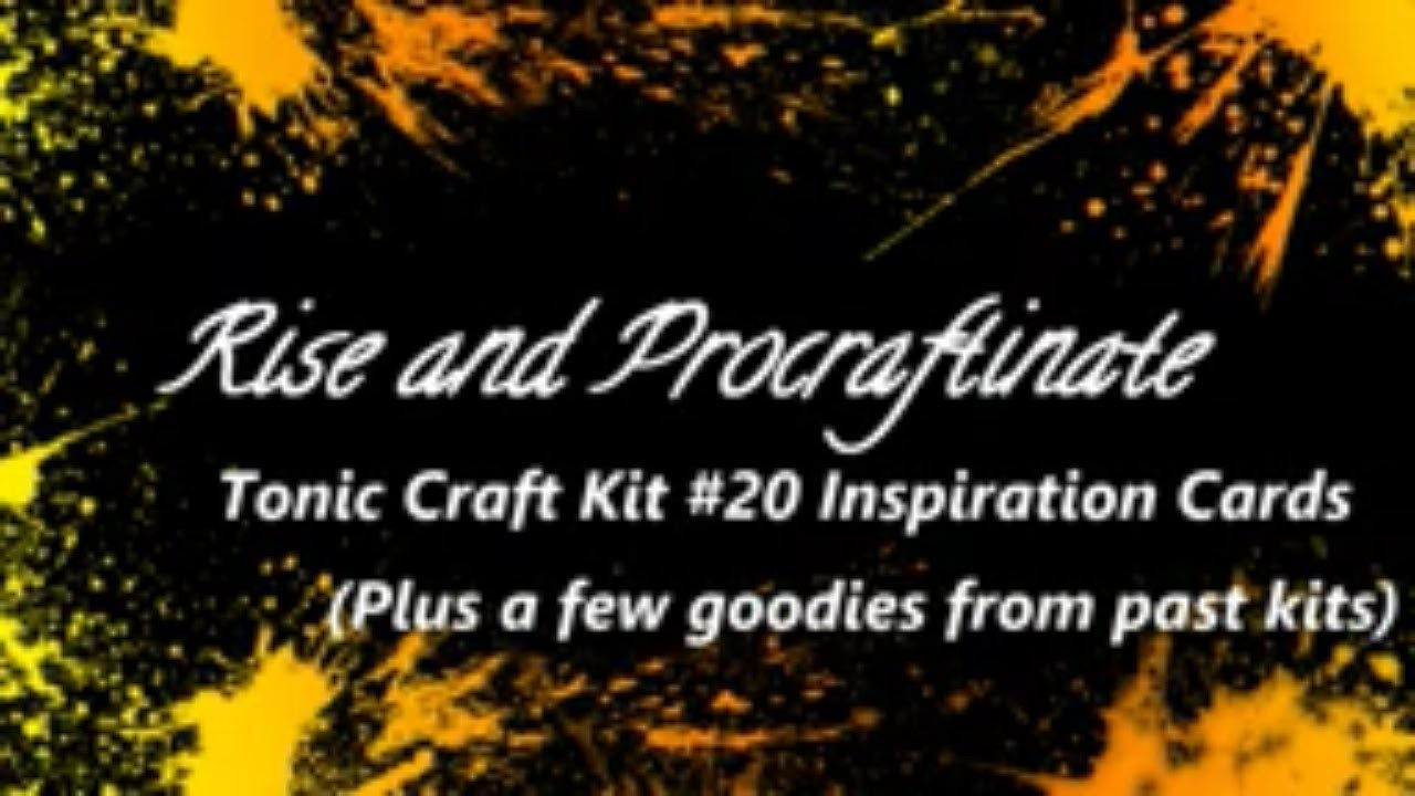 Tonic Craft Kit 20 Inspiration Cards (Plus a few things used from past kits)