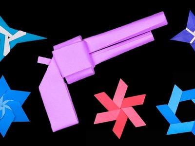 06 Easy #Origami Paper #Ninja #Star and Paper Gun
