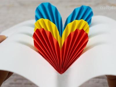 3D Pop Up Heart Card | DIY Valentine Day Cards | Handmade Cards | Paper Craft Ideas