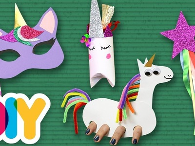 4 Amazing Rainbow Unicorn Crafts | Fast-n-Easy | DIY Arts & Crafts for Kids
