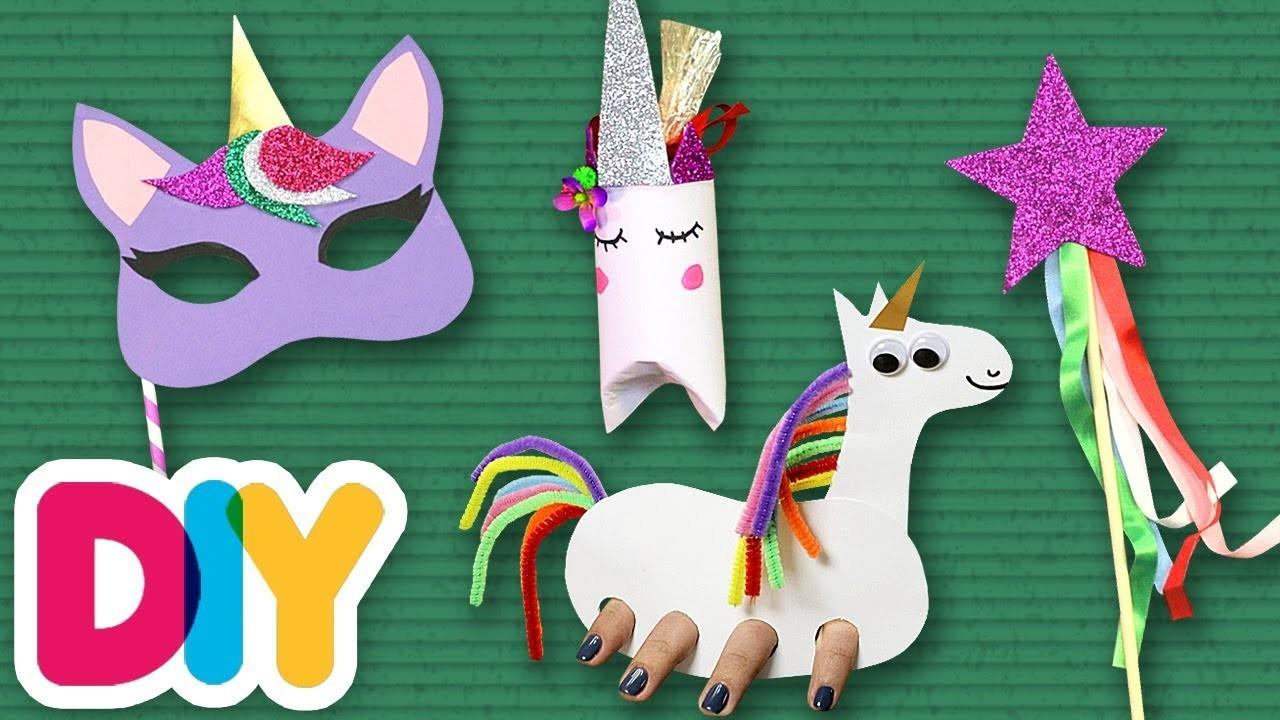4 Amazing Rainbow Unicorn Crafts | Fast-n-Easy | DIY Arts & Crafts for Kids