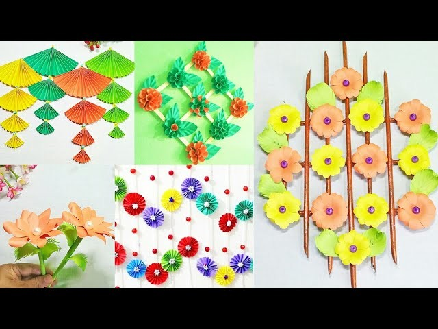 5 diy room decor idea with color paper   Easy and beautiful home decor idea with paper