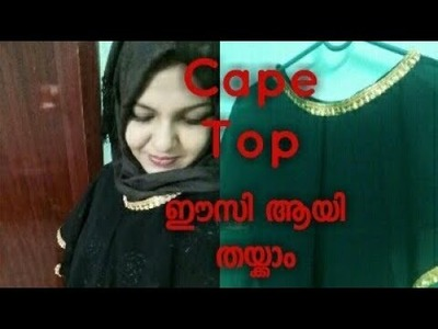 Cape top stitching and cutting || easy stitch poncho|| convert dupatta into a cape top |