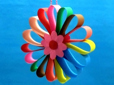 Colorful Hanging Paper Christmas Decorations - Beautiful Wall Hanging Decor