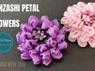 D.I.Y.  1 Kanzashi Petal - 2 Flowers   MyInDulzens