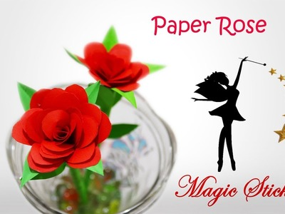 DIY | How to Make Easy Paper Flower Rose in 5 Minute | Tutorial for Kids and beginners | Rose Flower