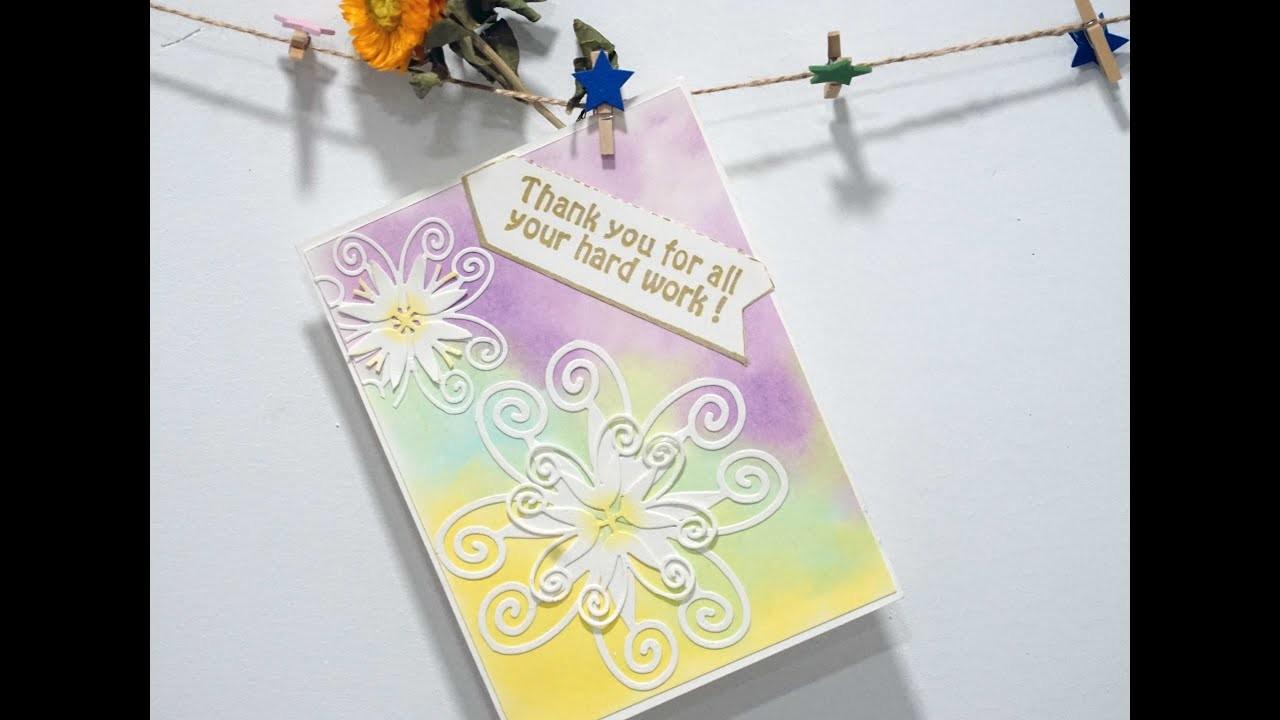 Easy DIY Card Paper Crafts Making& Flower card making tutorial