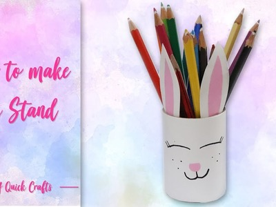 Easy kitty Pen Stand for Kids | Kids Crafts | Pen Holder making |DIY kids Pencil Stand tutorial.