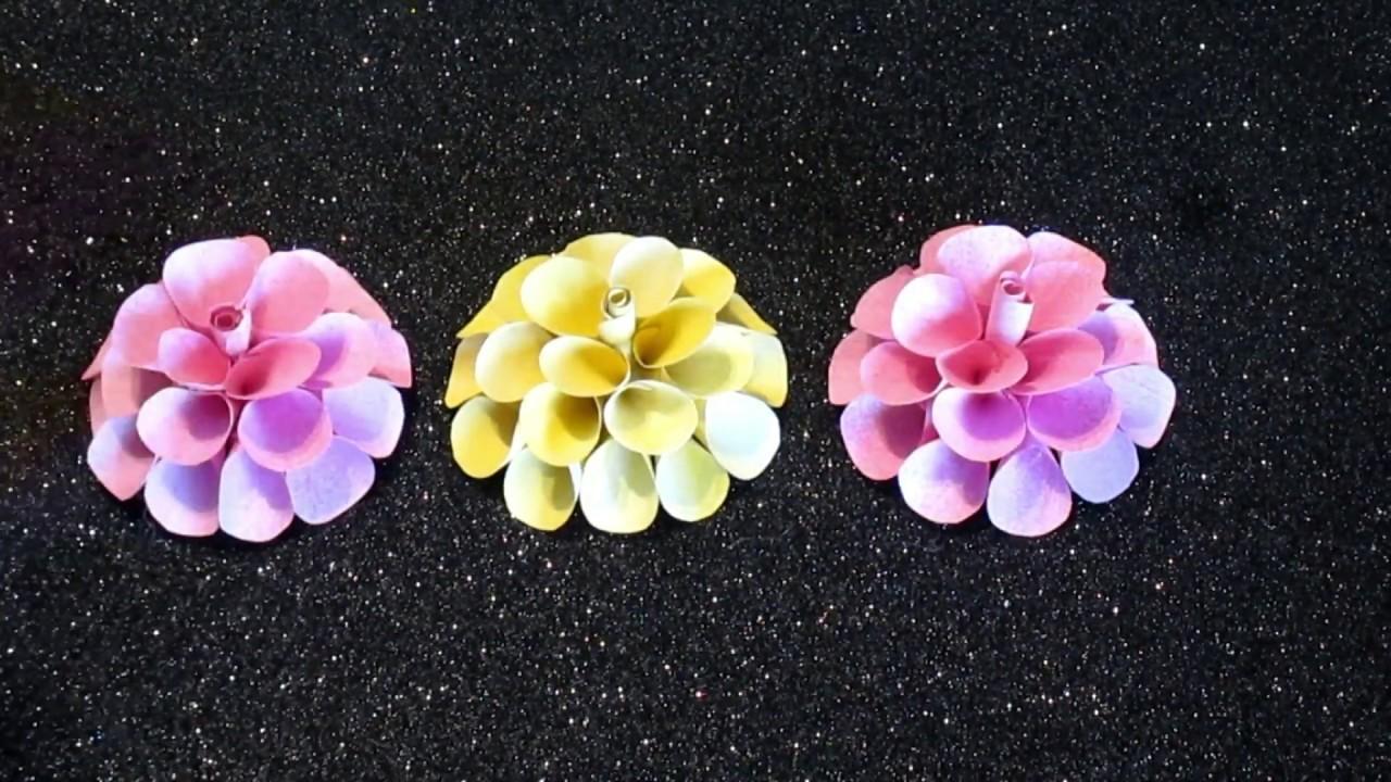 FLORES FACILES de PAPEL.How to make Easy paper FLOWERS. HAZ FLORES SUPER FACILES CON PAPEL