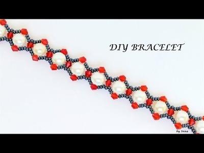 Gorgeous beaded bracelet.  How to DIY a bracelet
