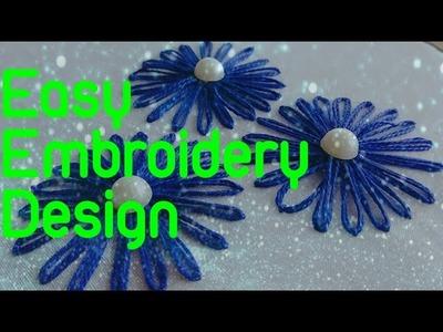 Hand embroidery design, easy flower embroidery stitch, DIY, Diy, diy