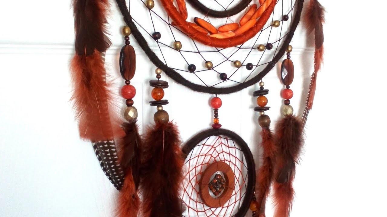 Handmade DIY Native American Indian Dream catcher.