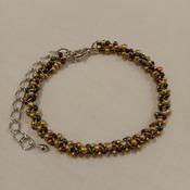 Handmade Golden Black Beaded Bracelet