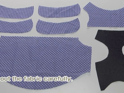 How to make a dog Balloon blouse sewing movie 02 [hand made dog clothes]