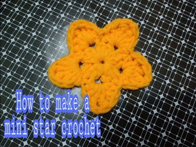 ~ How to make a simple star crochet ~ Easy star ~ Handmade