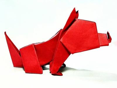 ORIGAMI DOG || PAPER DOG || DIY