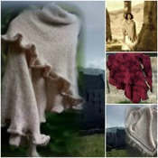 Outlander Inspired Claire's Lallybroch Shawl Knit Pattern