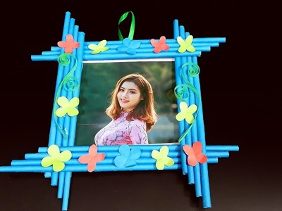 Paper Crafts ! Make a Beautiful  Photo Frame at Home
