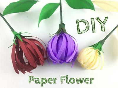 Paper Flowers | Flower Making | DIY | Paper Leaves | Paper Crafts For School