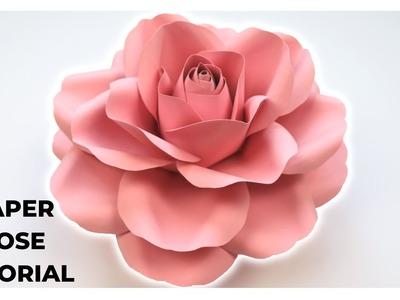 Paper Rose Tutorial | Realistic Looking Paper Flower