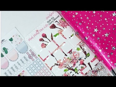 Plan With Me    Hobonichi Weeks featuring Beyond Paper Flowers and Pink Polka Dot Lily