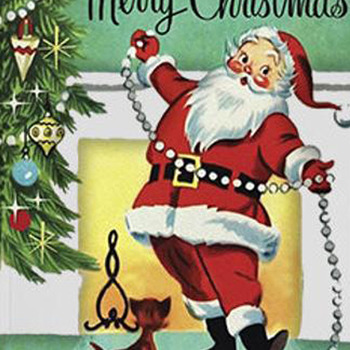 Retro Santa Christmas Cross Stitch Pattern***LOOK***