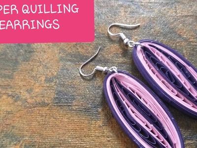Simple DIY EARRINGS easy to make paper quilling earrings. quilling jewellery.creative earrings