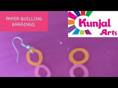 SIMPLE DIY EASY TO MAKE PAPER QUILLING EARRINGS. QUILLING JEWELLERY. ACCESSORIES. PAPER ART
