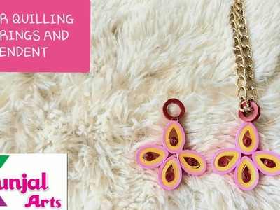 SIMPLE DIY EASY TO MAKE PAPER QUILLING PENDANT. QUILLING JEWELLERY. ACCESSORIES. PAPER ART