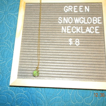 Snowglobe Necklace - Green