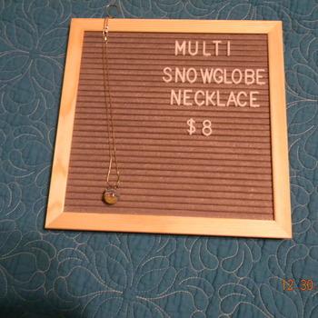 Snowglobe Necklace- Multi
