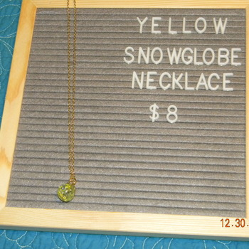 Snowglobe Necklace- Yellow