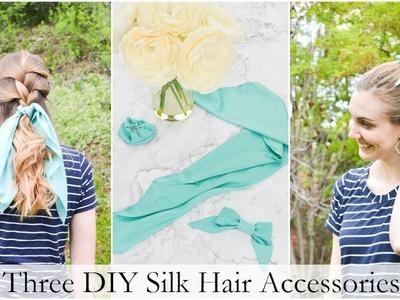 Three DIY Silk Hair Accessories
