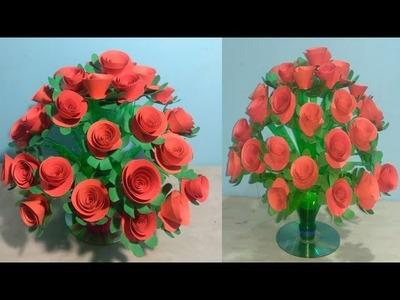 Wow! Amazing Design Plastic Bottle Guldasta | New Design Guldasta | Making Paper Flowers Guldasta