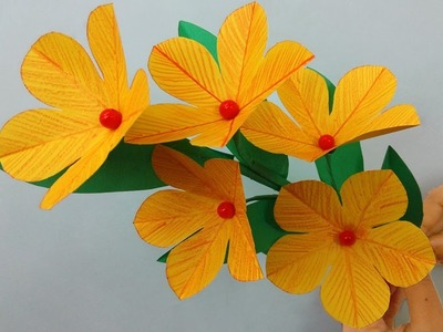 Wow!!! Very Easy Paper Flowers Decoration at Home - DIY paper flowers decoration ideas