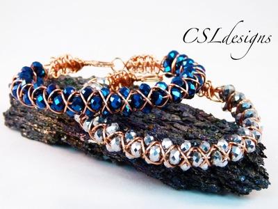 3 row goddess wirework macrame bracelet
