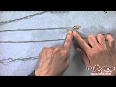 Adding French Wire and Clasp to Silk Thread
